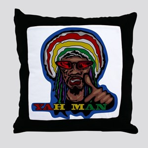 YAH MAN Throw Pillow
