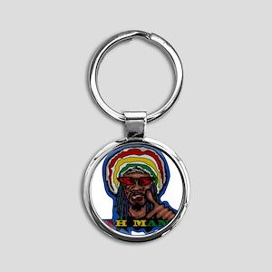 YAH MAN Round Keychain