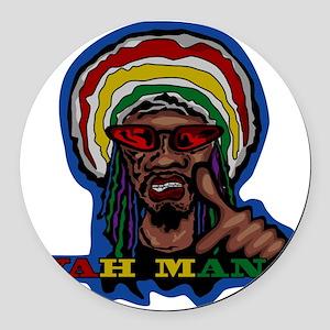 YAH MAN Round Car Magnet