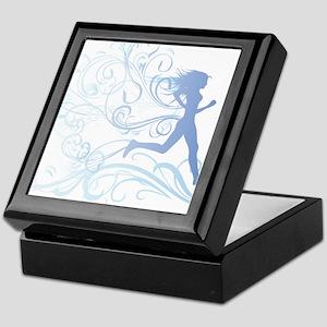 runner_girl_blue Keepsake Box