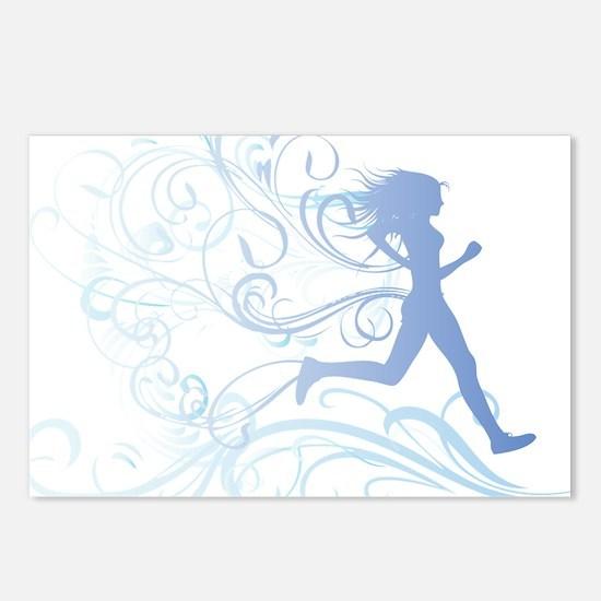 runner_girl_blue Postcards (Package of 8)