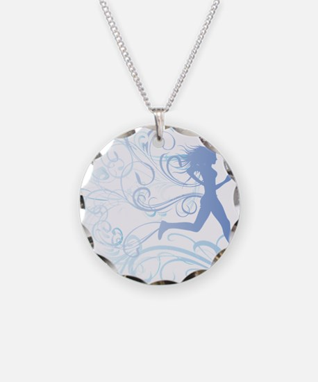 runner_girl_blue Necklace
