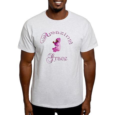 Amazing Grace DARKER SKIN PINK VERTI Light T-Shirt