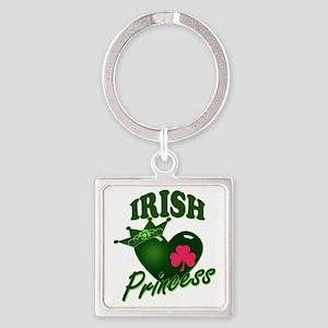 IrishPrincessgreenpk Square Keychain