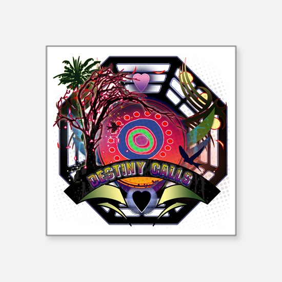 "Lost Oceanic Dharma Destiny Square Sticker 3"" x 3"""