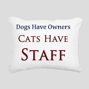 Cats Have Staff Rectangular Canvas Pillow