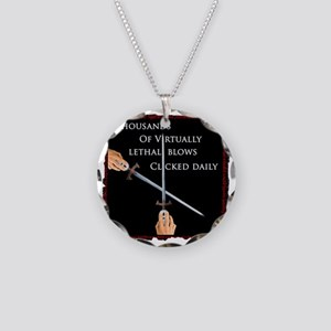 deadly clicker  Necklace Circle Charm