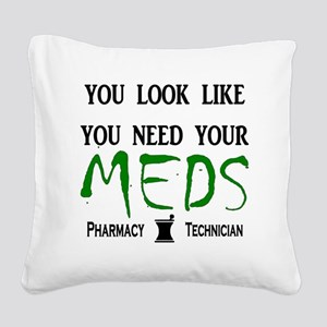 needyourmedslight Square Canvas Pillow