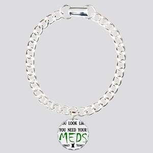 needyourmedslight Charm Bracelet, One Charm