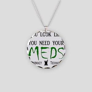 needyourmedslight Necklace Circle Charm