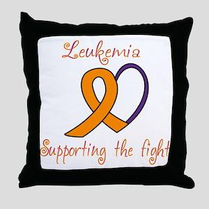 Leukemia Support Fight Throw Pillow