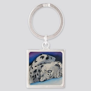 snowleopard Square Keychain