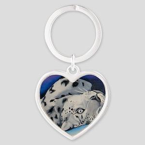 snowleopard Heart Keychain