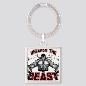 Unleash The Beast Square Keychain