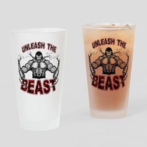 Unleash The Beast Drinking Glass