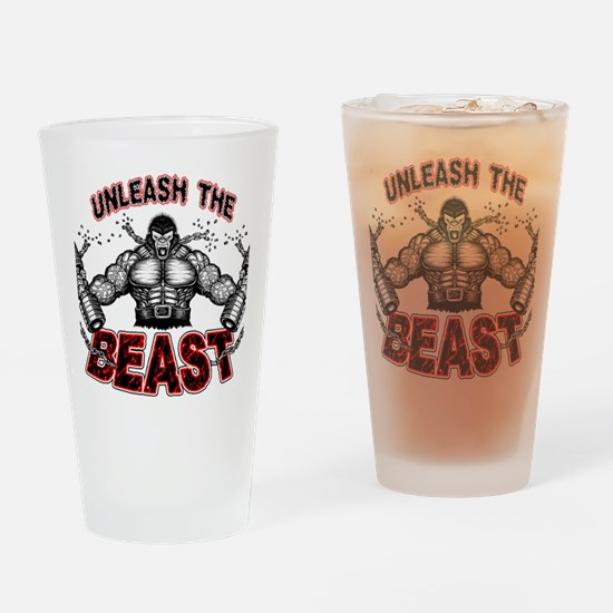 Unleash The Beast Drinking Glass