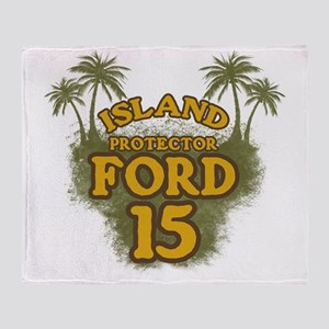 2-ford15_green Throw Blanket