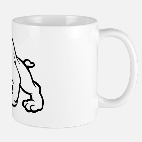 BLK WHT DOG Mug
