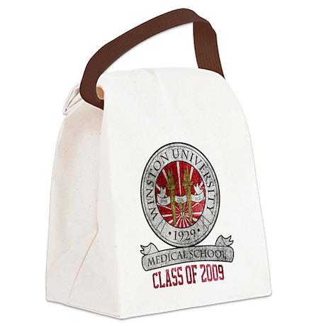 winston-university-logo2 Canvas Lunch Bag