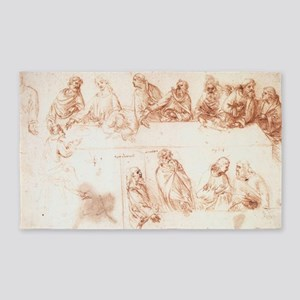 Study for The Last Supper 3'x5' Area Rug