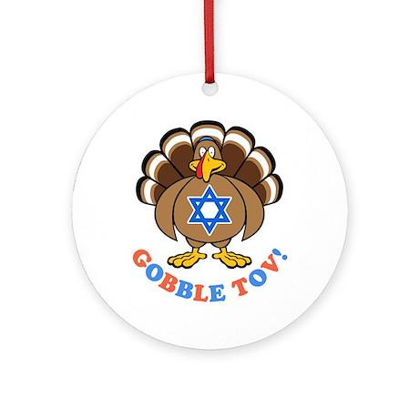 Funny Thanksgiving Hanukkah 2013 [r] Ornament (Rou