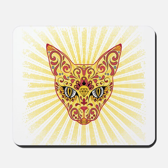 Cool Egyptian style mystic cat Mousepad