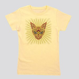Cool Egyptian style mystic cat Girl's Tee