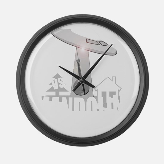 funny bluegrass mandolin Large Wall Clock
