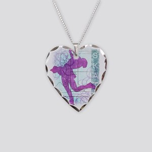 Vector Skater Collage Necklace Heart Charm