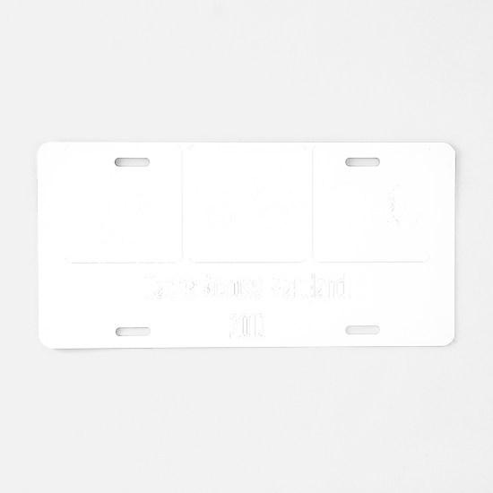 Two Lovies_Black Aluminum License Plate