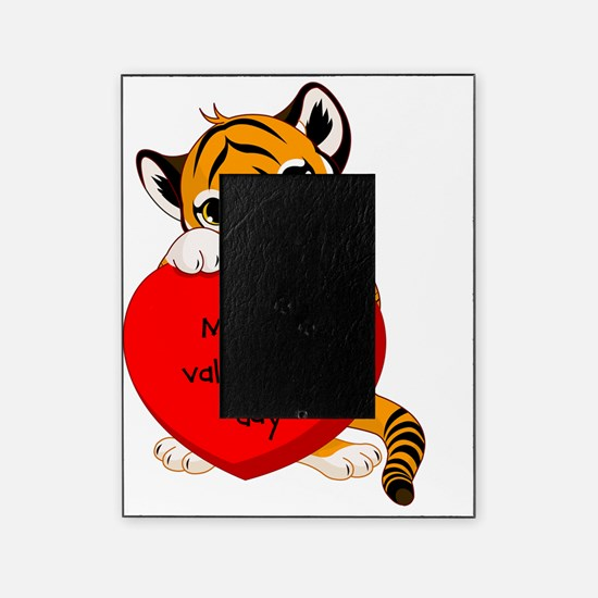 first valentines day tiger Picture Frame