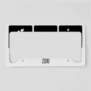 Two Lovies_White License Plate Holder