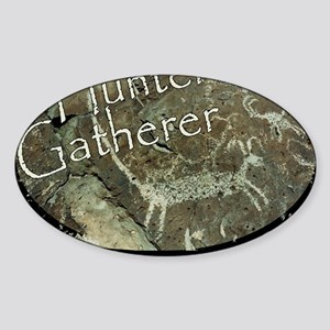Hunter Gatherer Rock Art Sticker (Oval)
