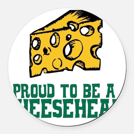 Cheesehead Round Car Magnet