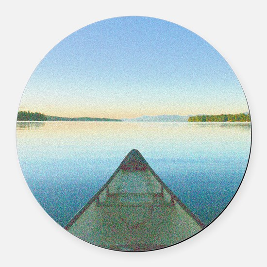 Lake 1 - Ipad Case2 Round Car Magnet
