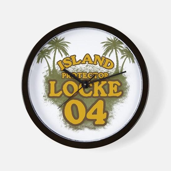 3-locke04_green Wall Clock
