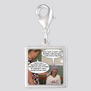 2-Point Of View Silver Square Charm