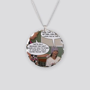 2-Point Of View Necklace Circle Charm