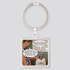 2-Point Of View Square Keychain