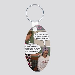 2-Point Of View Aluminum Oval Keychain