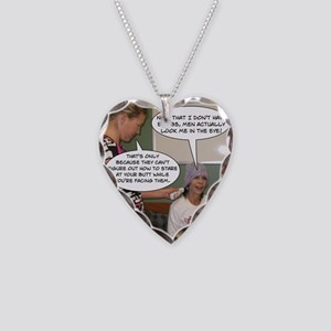 2-Point Of View Necklace Heart Charm