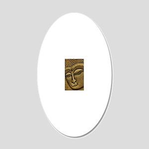 Buddha 20x12 Oval Wall Decal