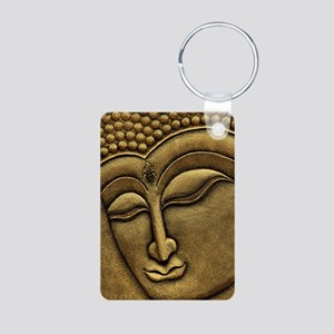Buddha Aluminum Photo Keychain