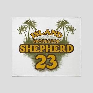 shepherd23_green Throw Blanket