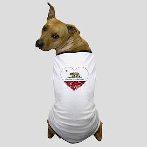 california flag los angeles heart distressed Dog T