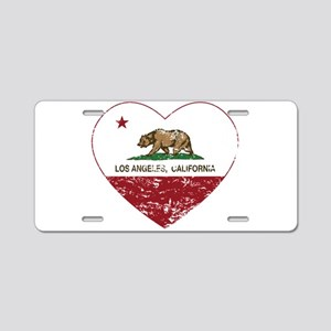 california flag los angeles heart distressed Alumi