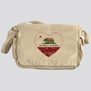 california flag los angeles heart distressed Messe