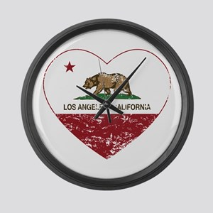 california flag los angeles heart distressed Large