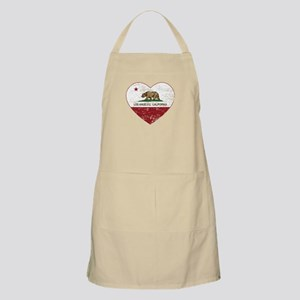 california flag los angeles heart distressed Apron
