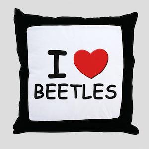 I love beetles Throw Pillow